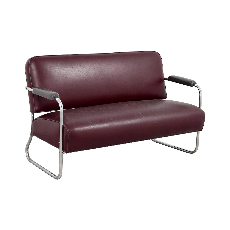 shop Art Deco Leather Sofa online