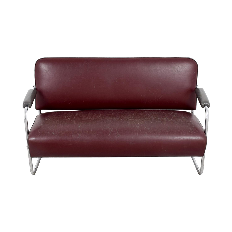 Art Deco Leather Sofa Sofas