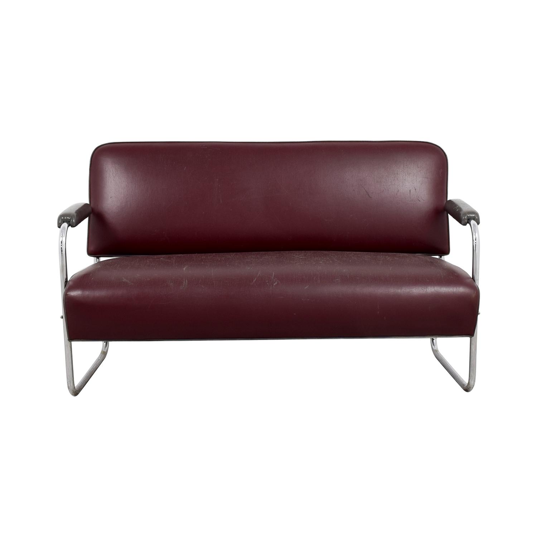 Art Deco Leather Sofa sale