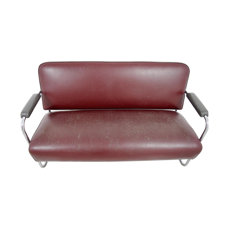 buy Art Deco Leather Sofa online