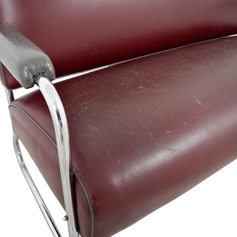 Art Deco Leather Sofa coupon