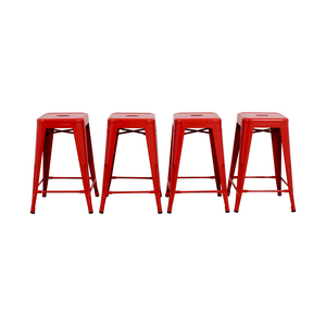 shop Retro Red Barstools