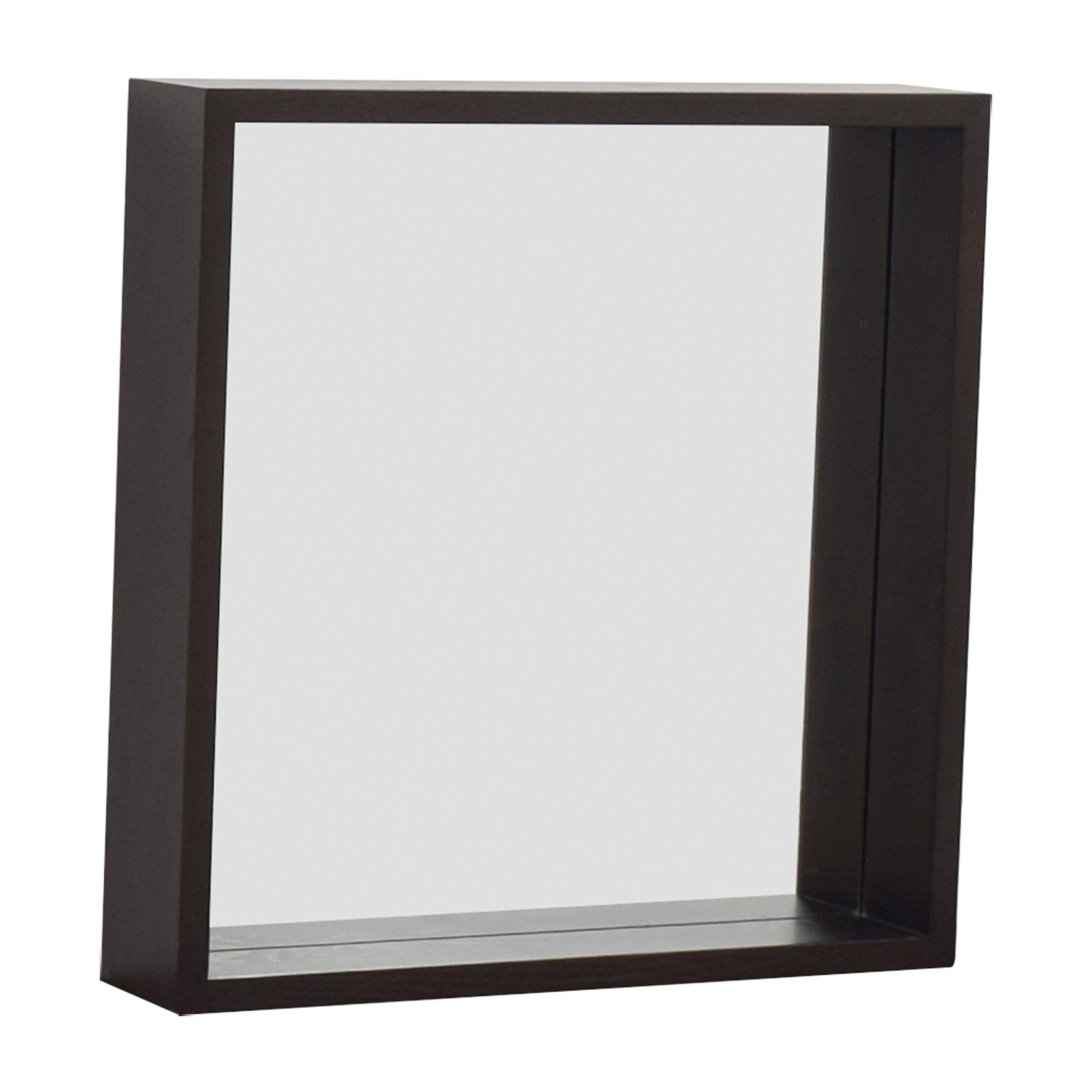 West Elm West Elm Wooden Framed Mirror Mahogany / Glass