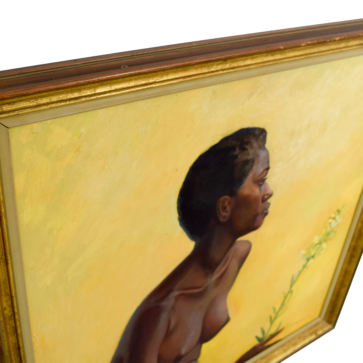 Caribbean Woman Acrylic Framed Painting second hand