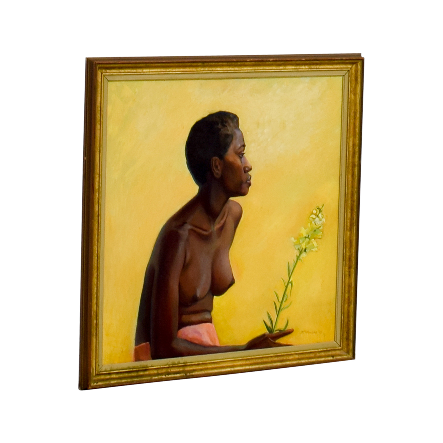 shop Caribbean Woman Acrylic Framed Painting