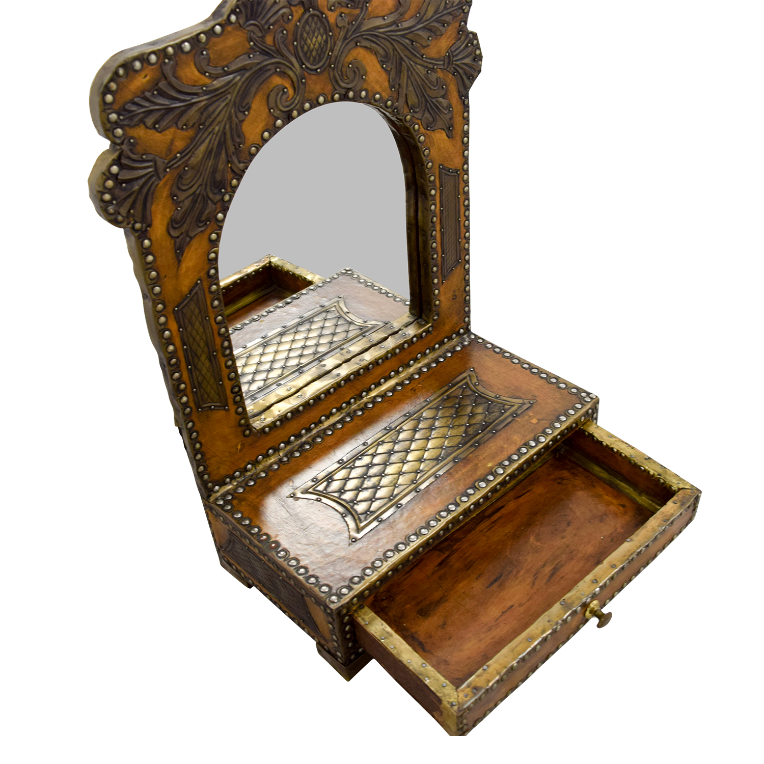 Southwestern Leather Studded Mirror price