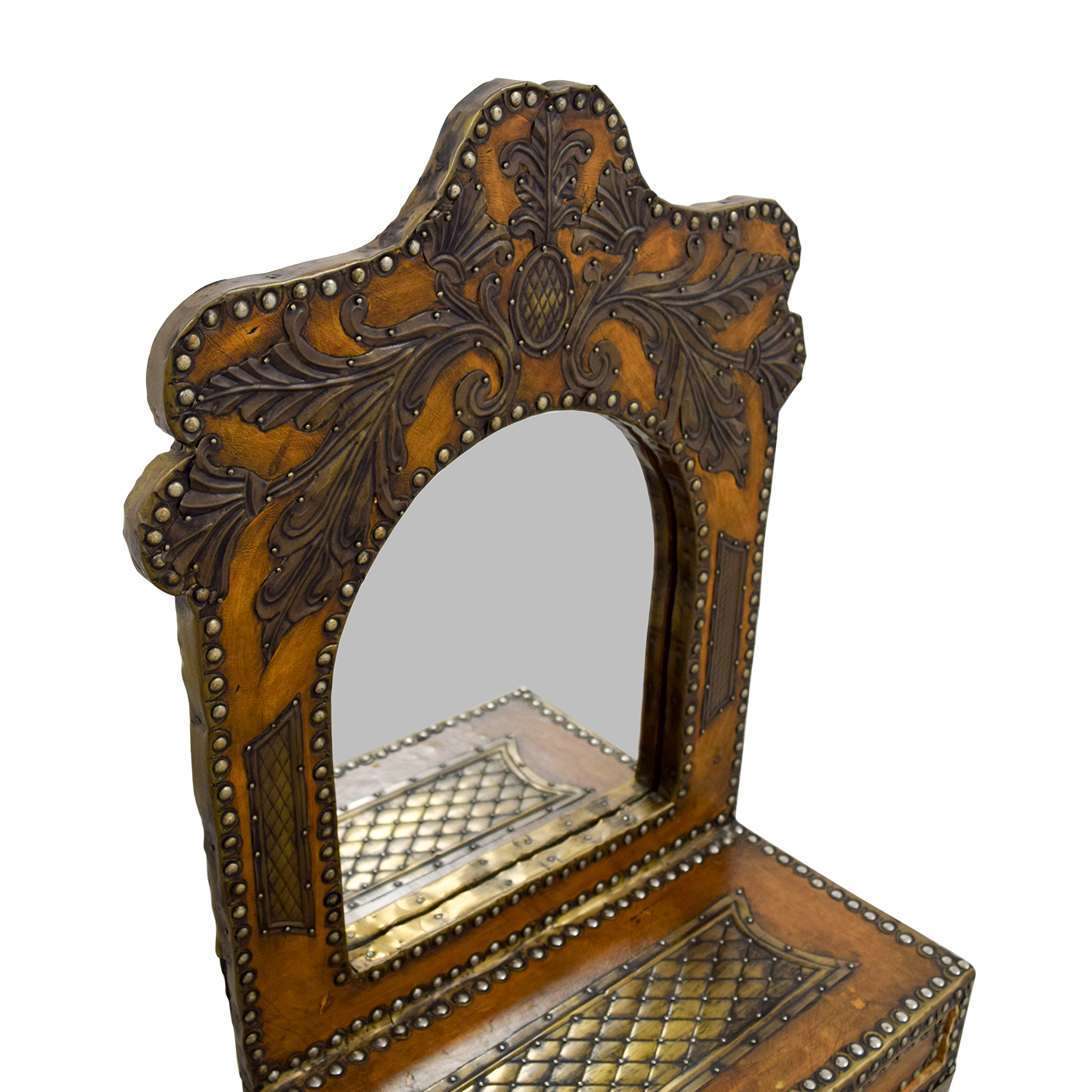 Southwestern Leather Studded Mirror Mirrors