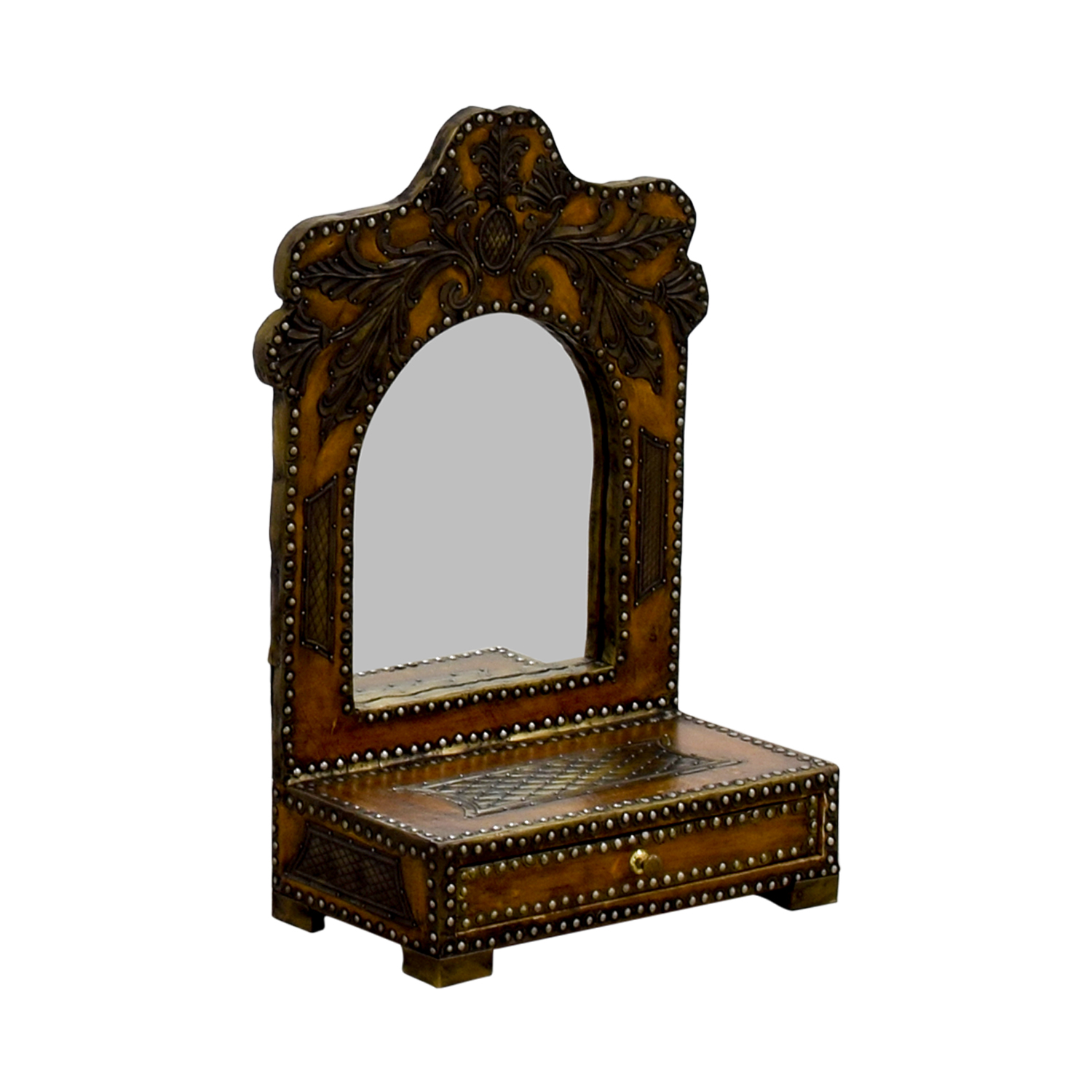 Southwestern Leather Studded Mirror / Mirrors