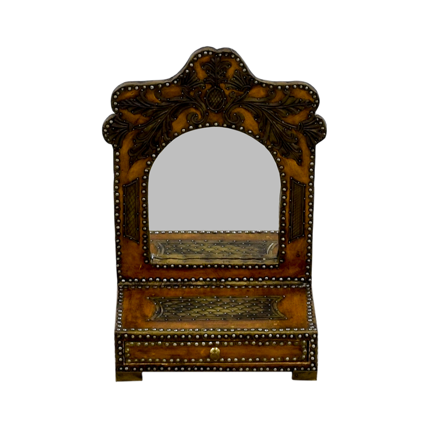Southwestern Leather Studded Mirror second hand