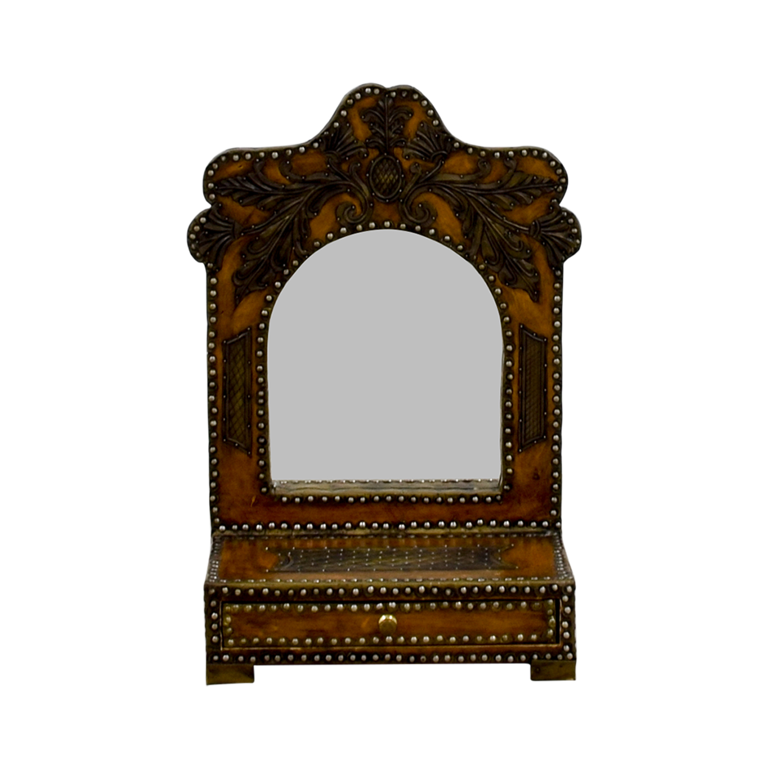 Southwestern Leather Studded Mirror dimensions