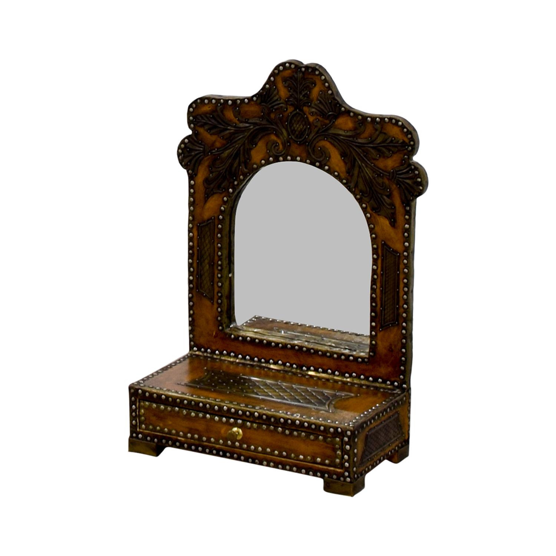 Southwestern Leather Studded Mirror nyc