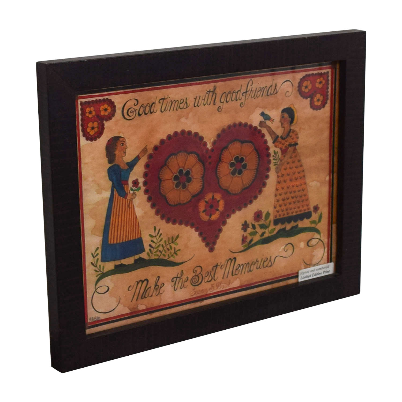 buy Signed Heart Friends Framed Print Wall Art