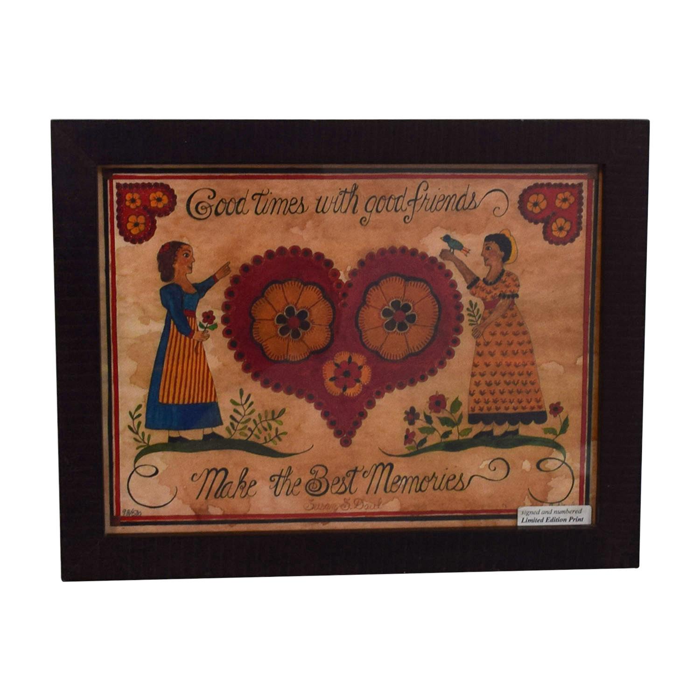 shop Signed Heart Friends Framed Print online