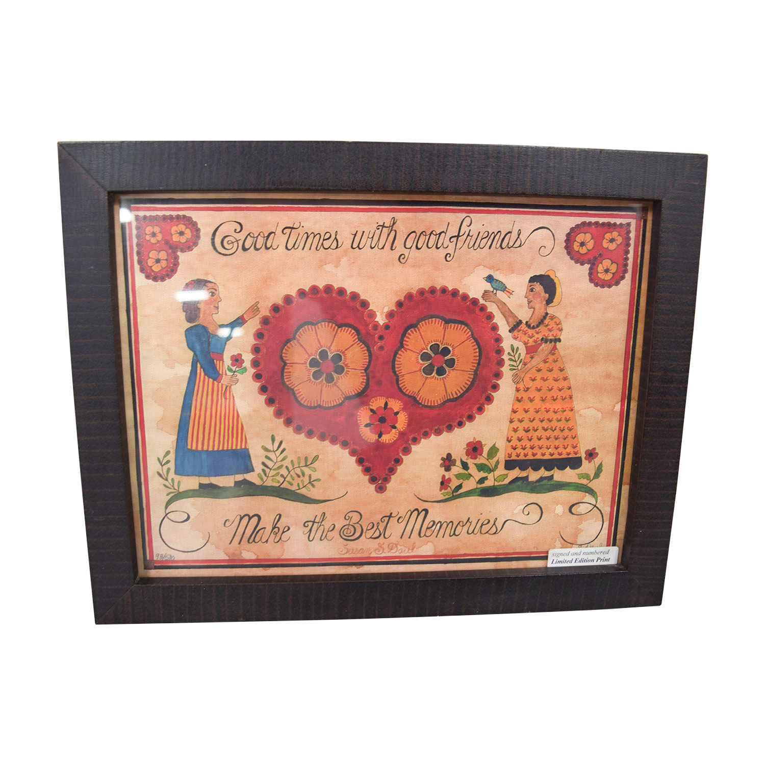 Signed Heart Friends Framed Print on sale