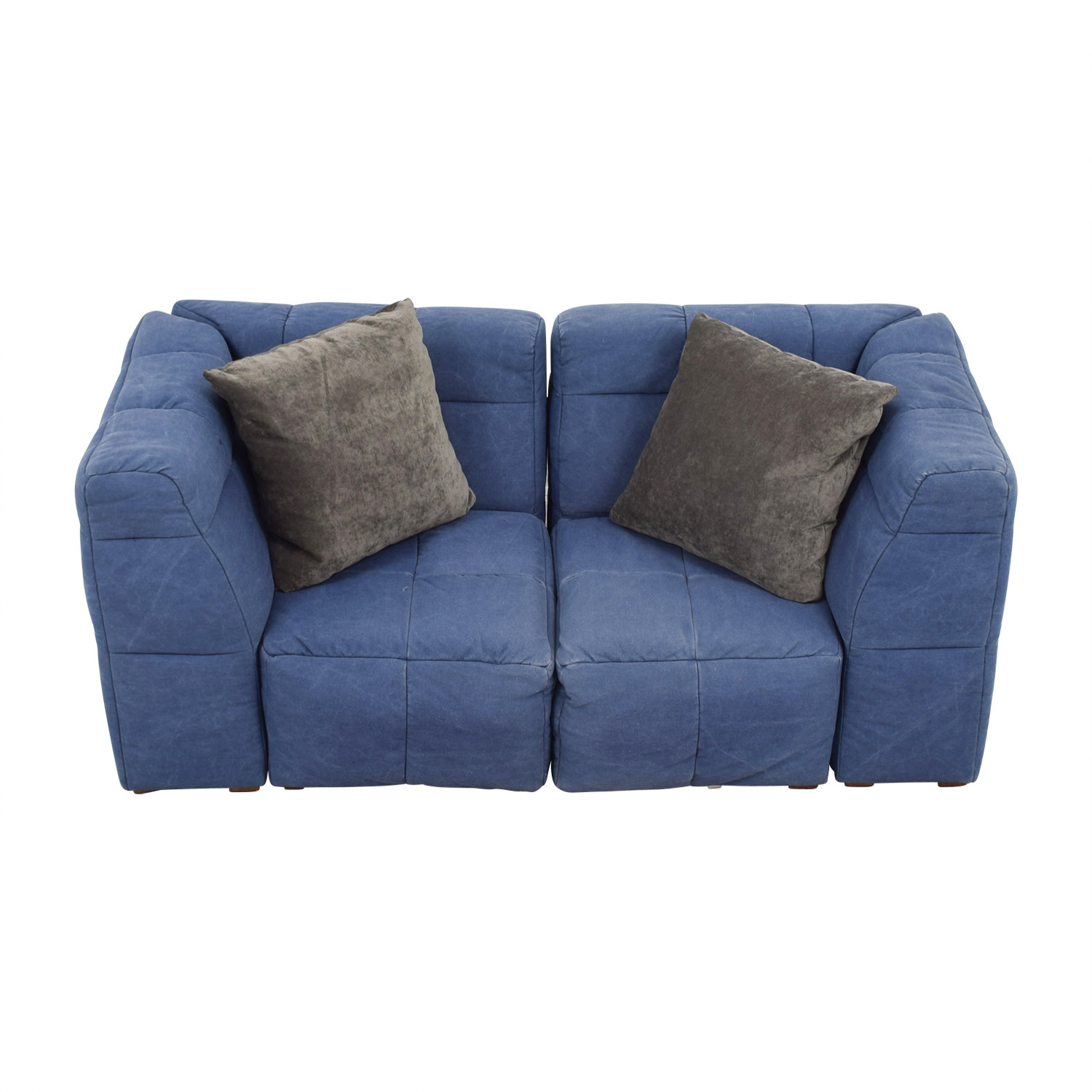 shop Pottery Barn Blue Corner Piece Loveseat Pottery Barn Loveseats