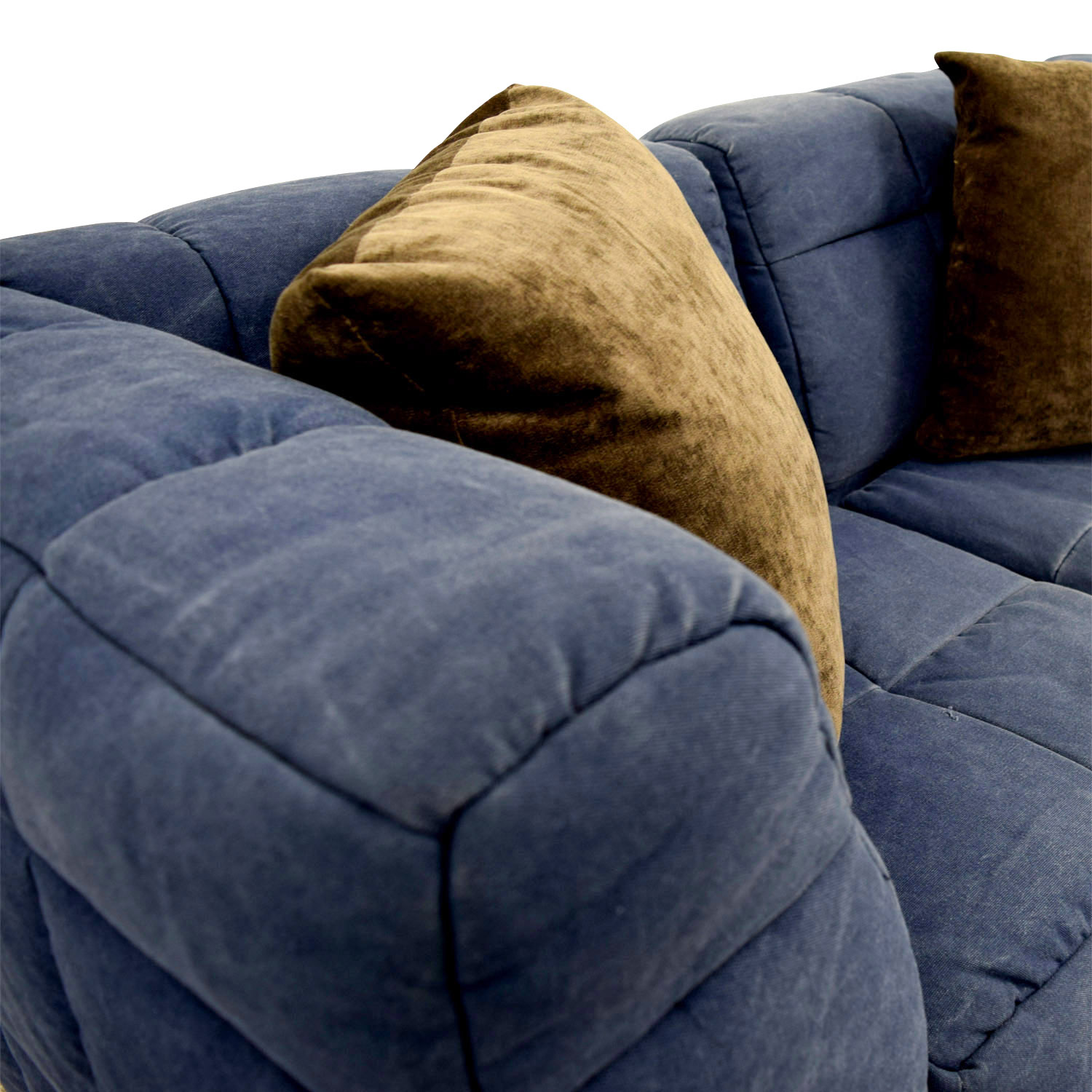 Pottery Barn Blue Corner Piece Loveseat / Loveseats