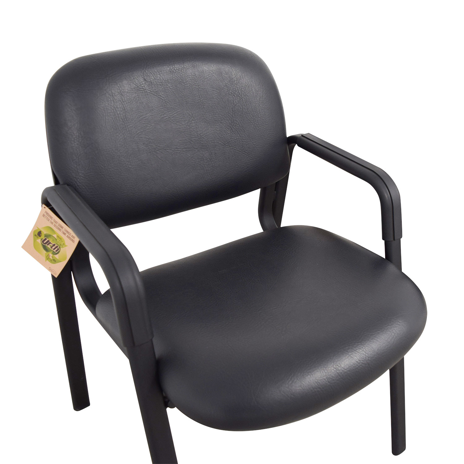 42% OFF Urth Urth Cava Black Leather Chairs Chairs