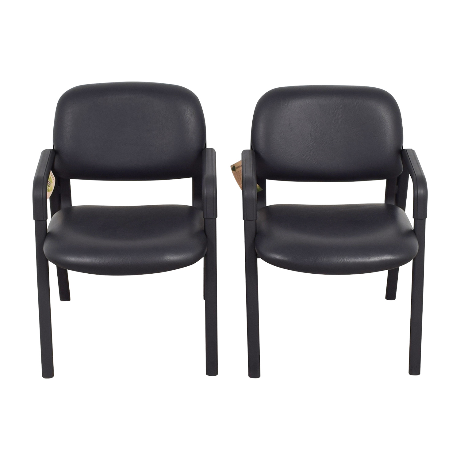 Urth Urth Cava Black Leather Chairs nj