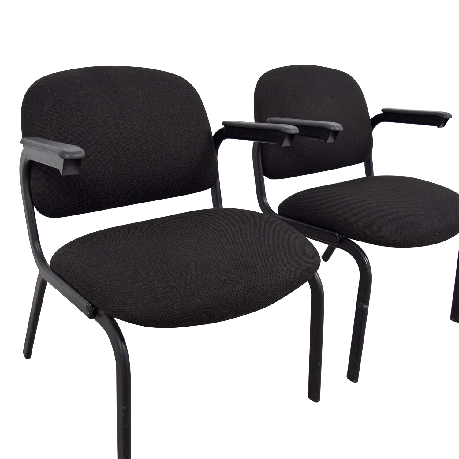 United United Black Fabric Chairs used