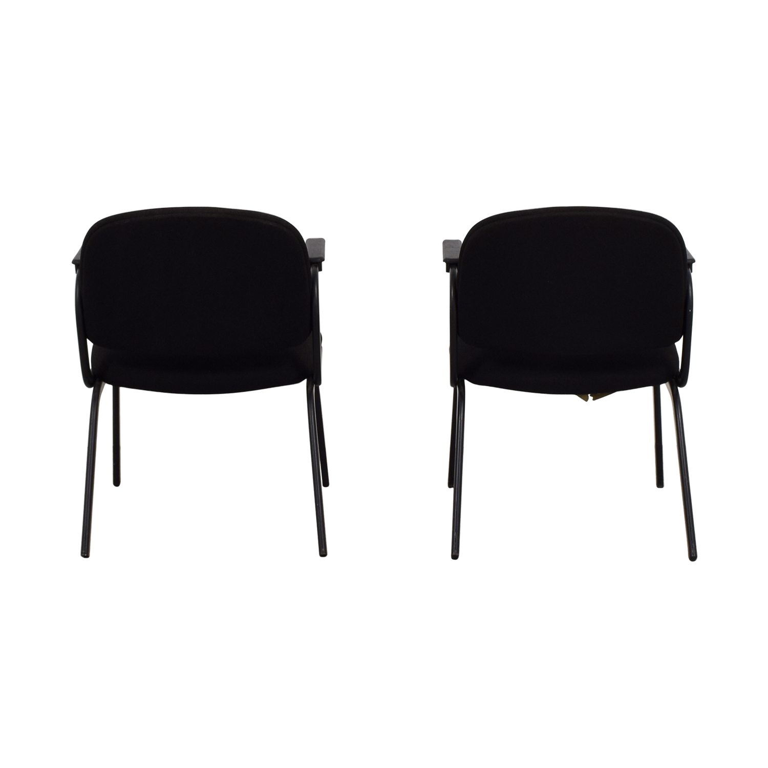 United United Black Fabric Chairs Home Office Chairs