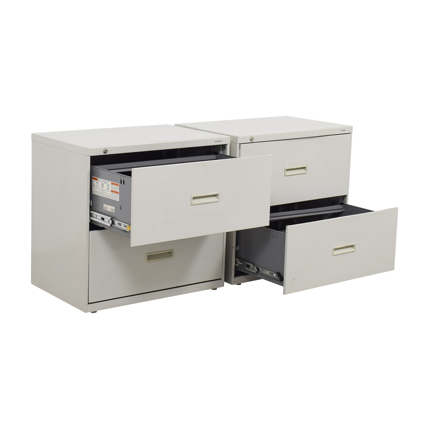 buy Hon Grey Two-Drawer File Cabinets Hon Storage