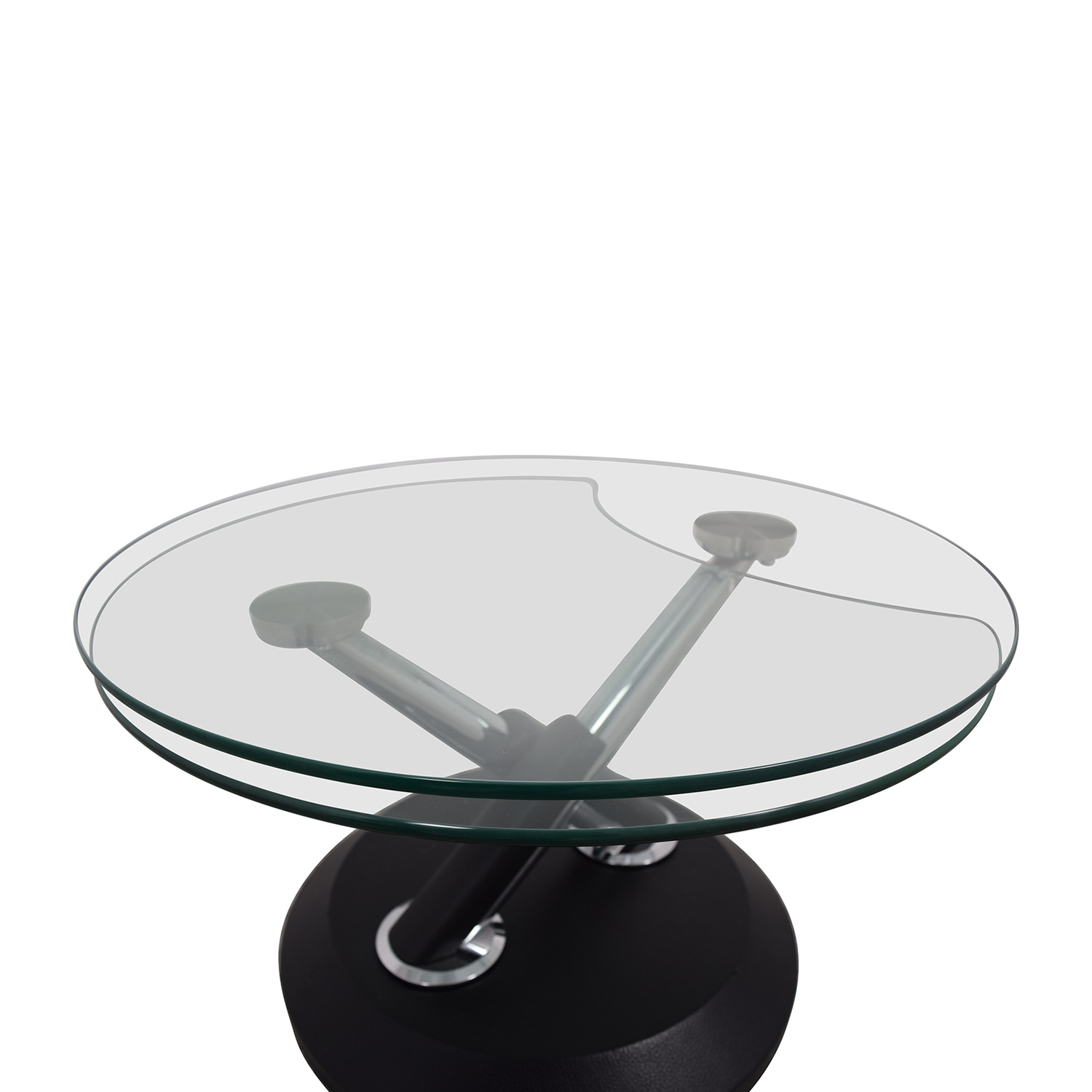 West Elm West Elm Glass Swivel Coffee Table price