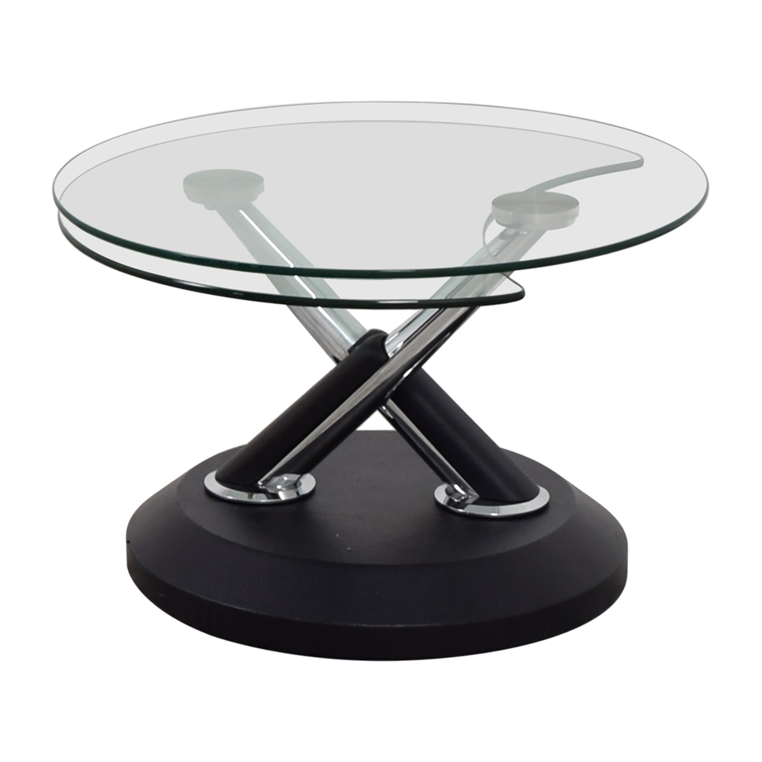 West Elm Glass Swivel Coffee Table West Elm