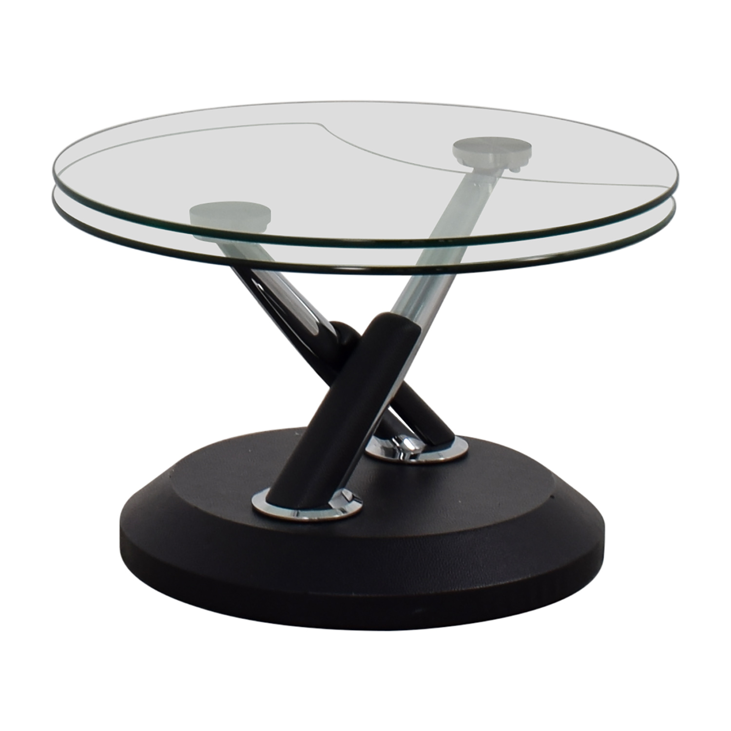 West Elm West Elm Glass Swivel Coffee Table discount