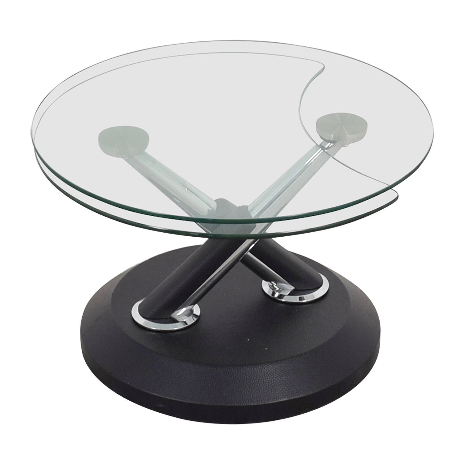 West Elm West Elm Glass Swivel Coffee Table coupon
