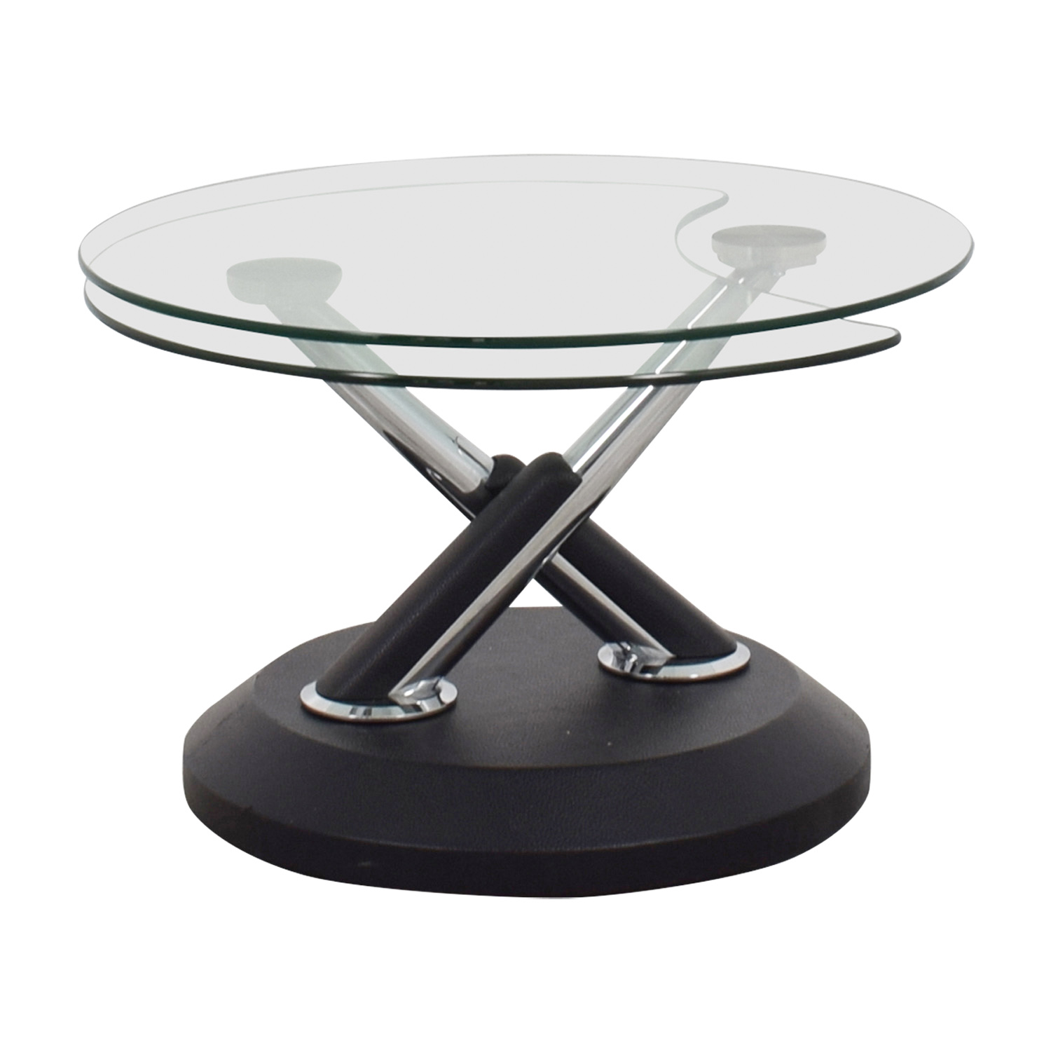 Bon Buy West Elm Glass Swivel Coffee Table West Elm Tables ...