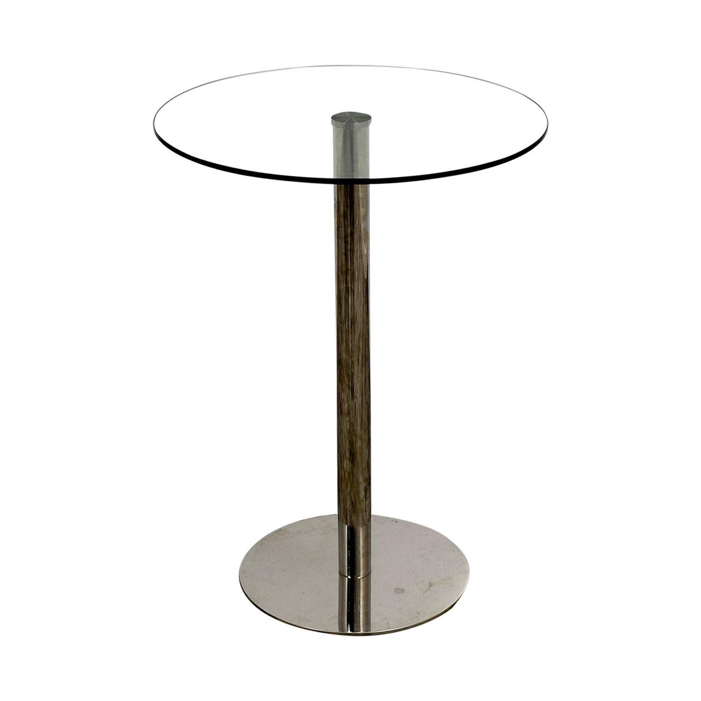 buy Modani Round Glass Bar Table Modani