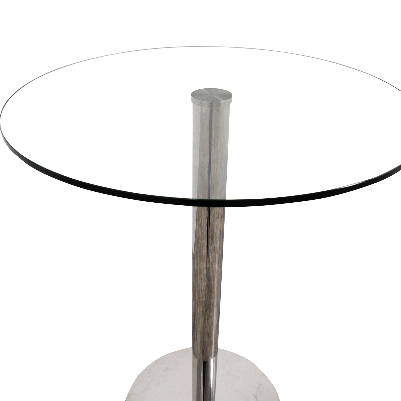 Modani Modani Round Glass Bar Table on sale