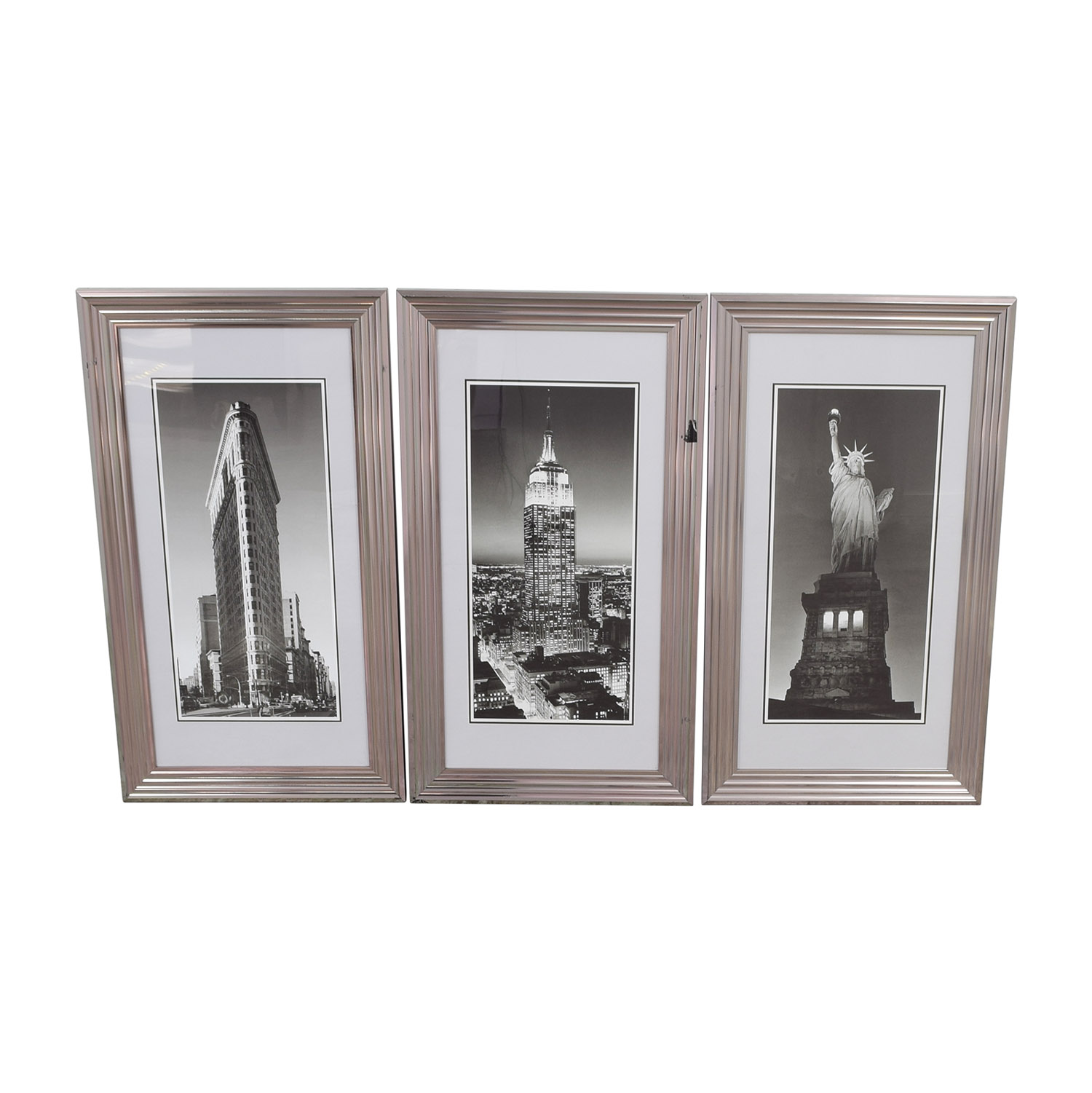 89% OFF - Modani Modani Framed NYC Landmark Prints / Decor