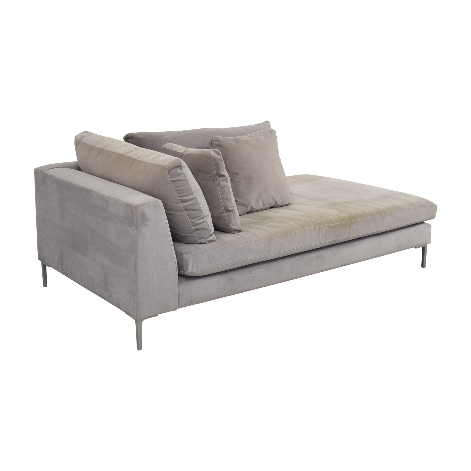buy ABC Right Arm Velvet Chaise ABC Carpet and Home