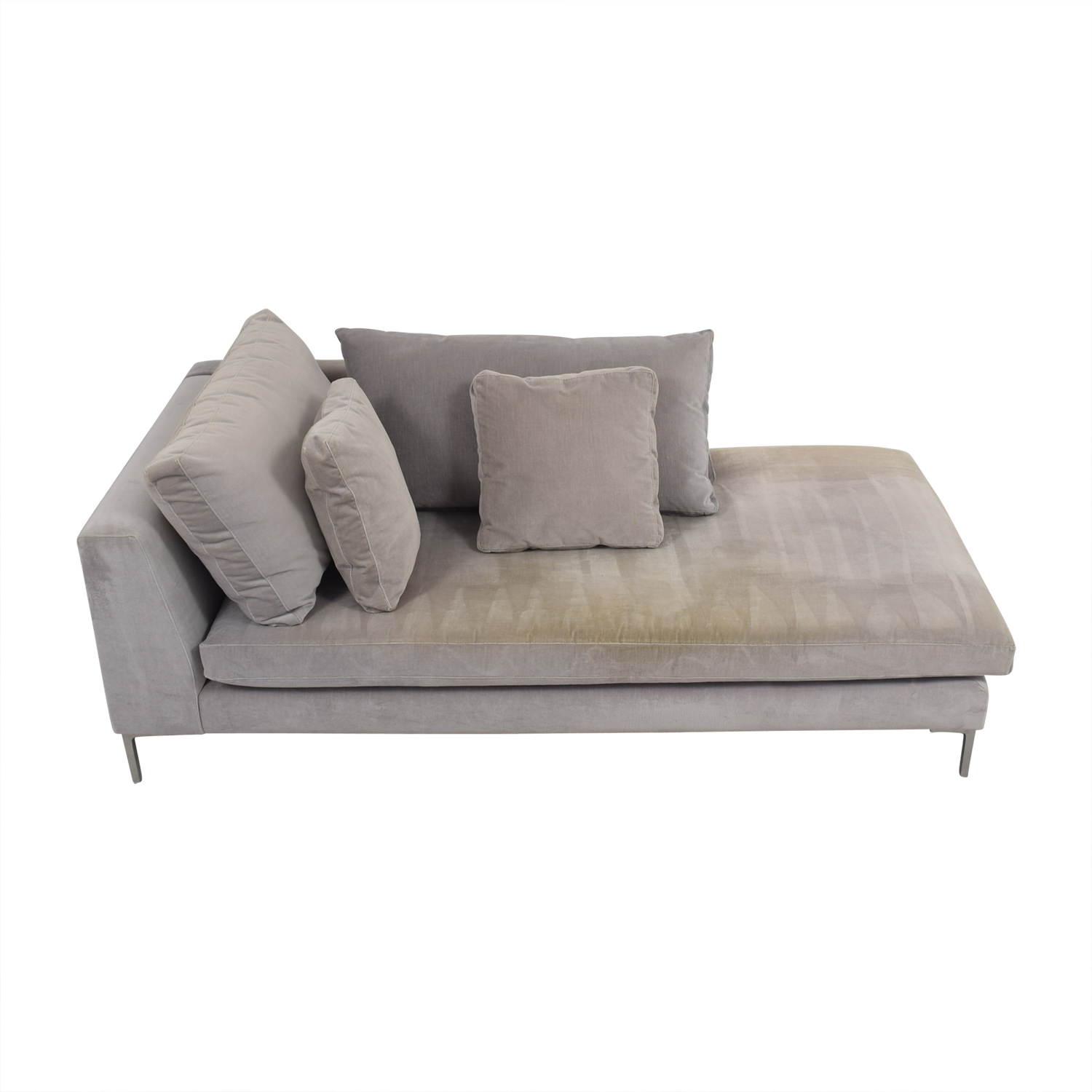 buy ABC Right Arm Velvet Chaise ABC Carpet and Home Sofas