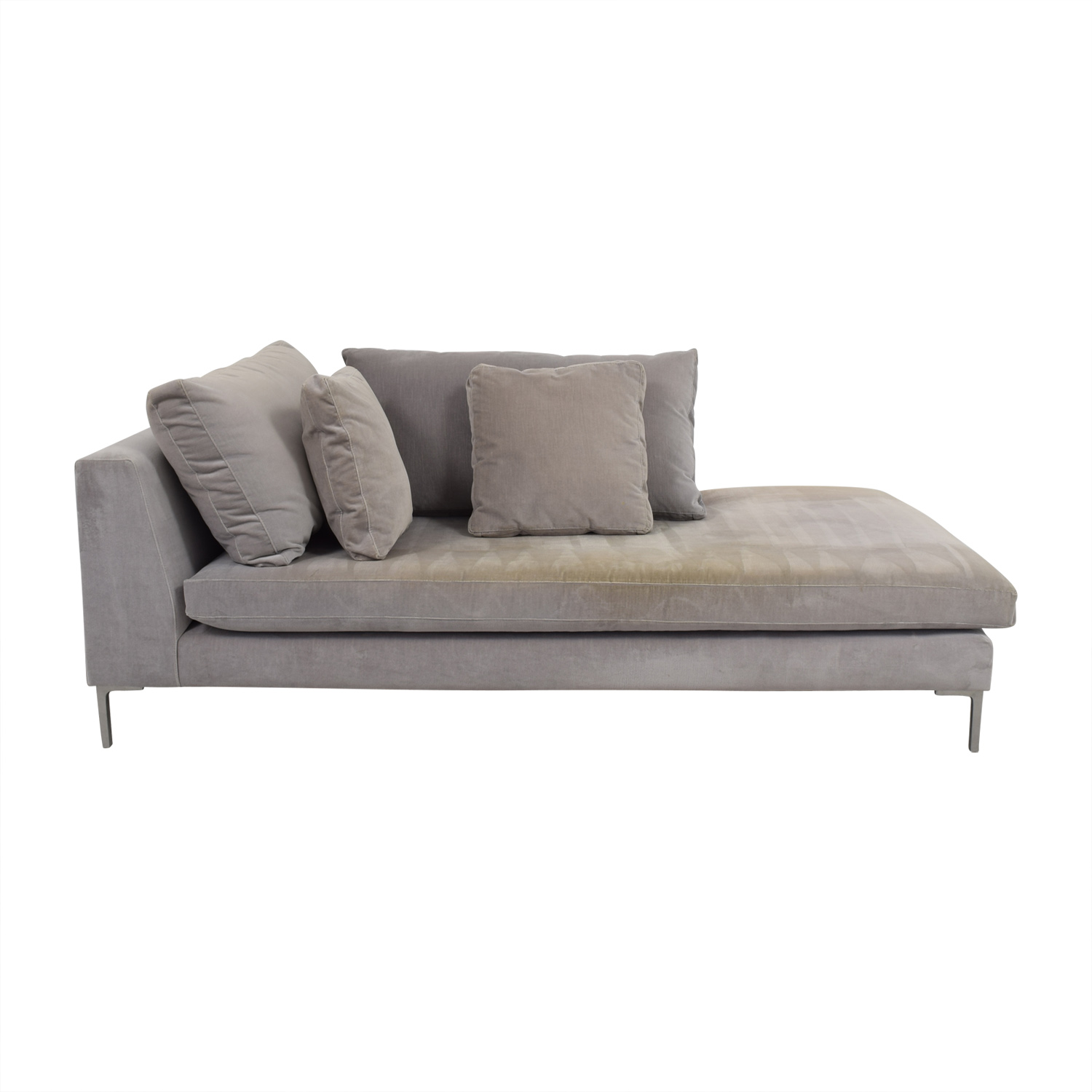shop ABC Right Arm Velvet Chaise ABC Carpet and Home Chaises
