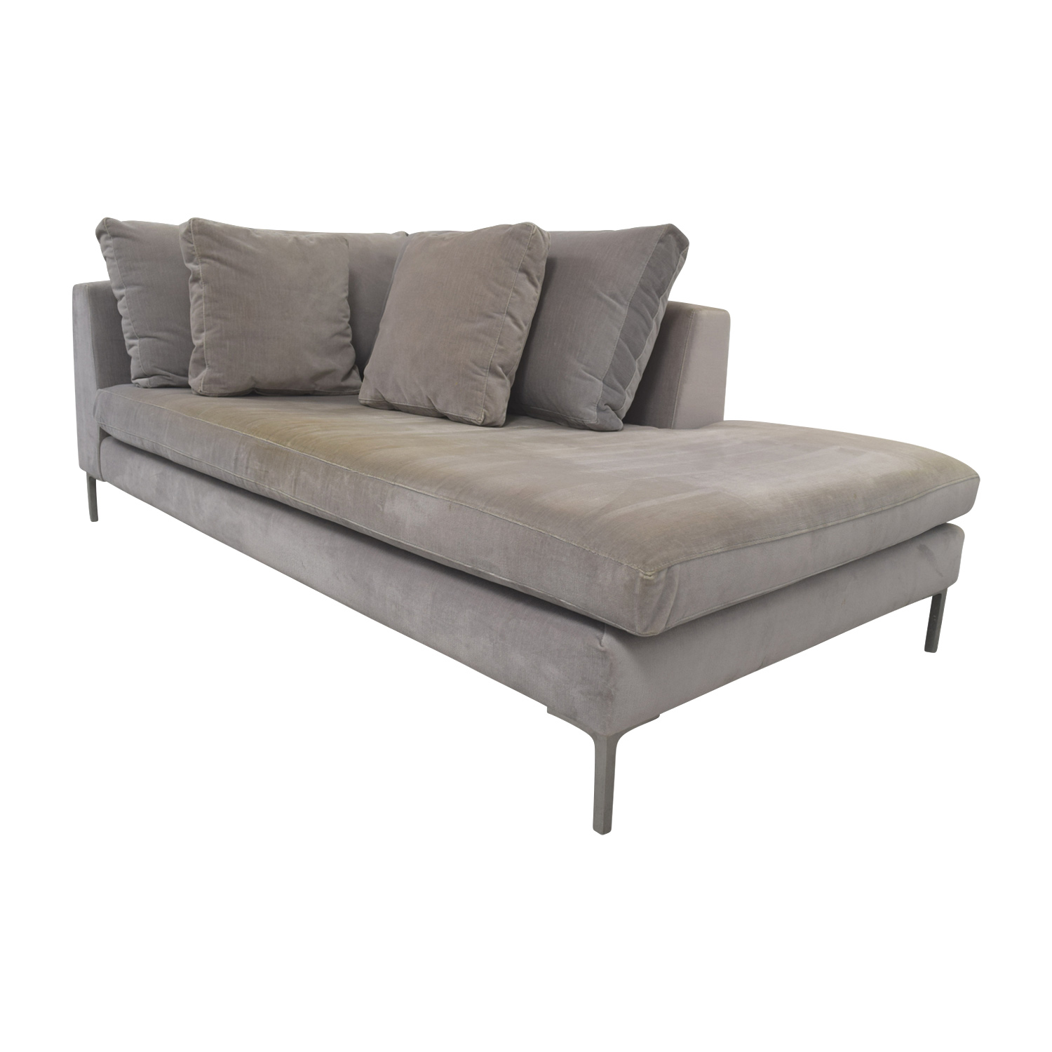 ABC Carpet and Home ABC Right Arm Velvet Chaise for sale
