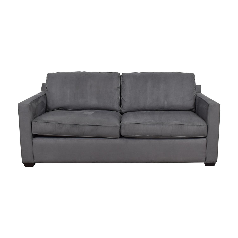 buy Crate & Barrel Davis Grey Sofa Crate & Barrel