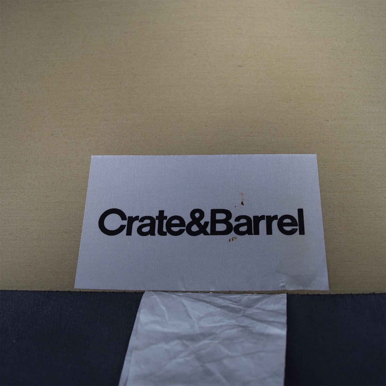 Crate & Barrel Crate & Barrel Davis Grey Sofa discount