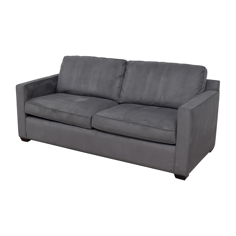 Crate & Barrel Crate & Barrel Davis Grey Sofa Classic Sofas