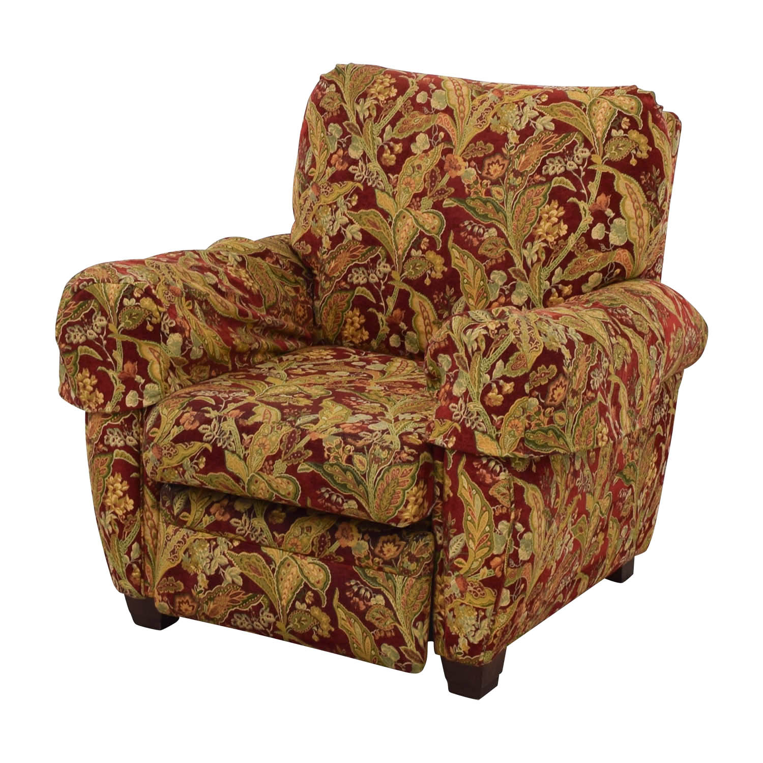 Lazy Boy Burgundy Floral Recliner Lazy Boy