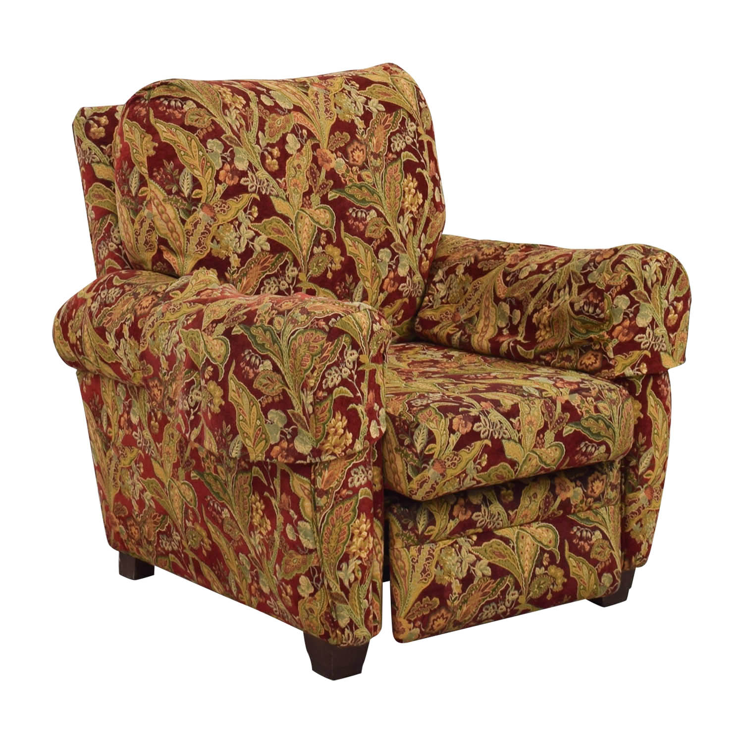 84 Off Lazy Boy Lazy Boy Burgundy Floral Recliner Chairs