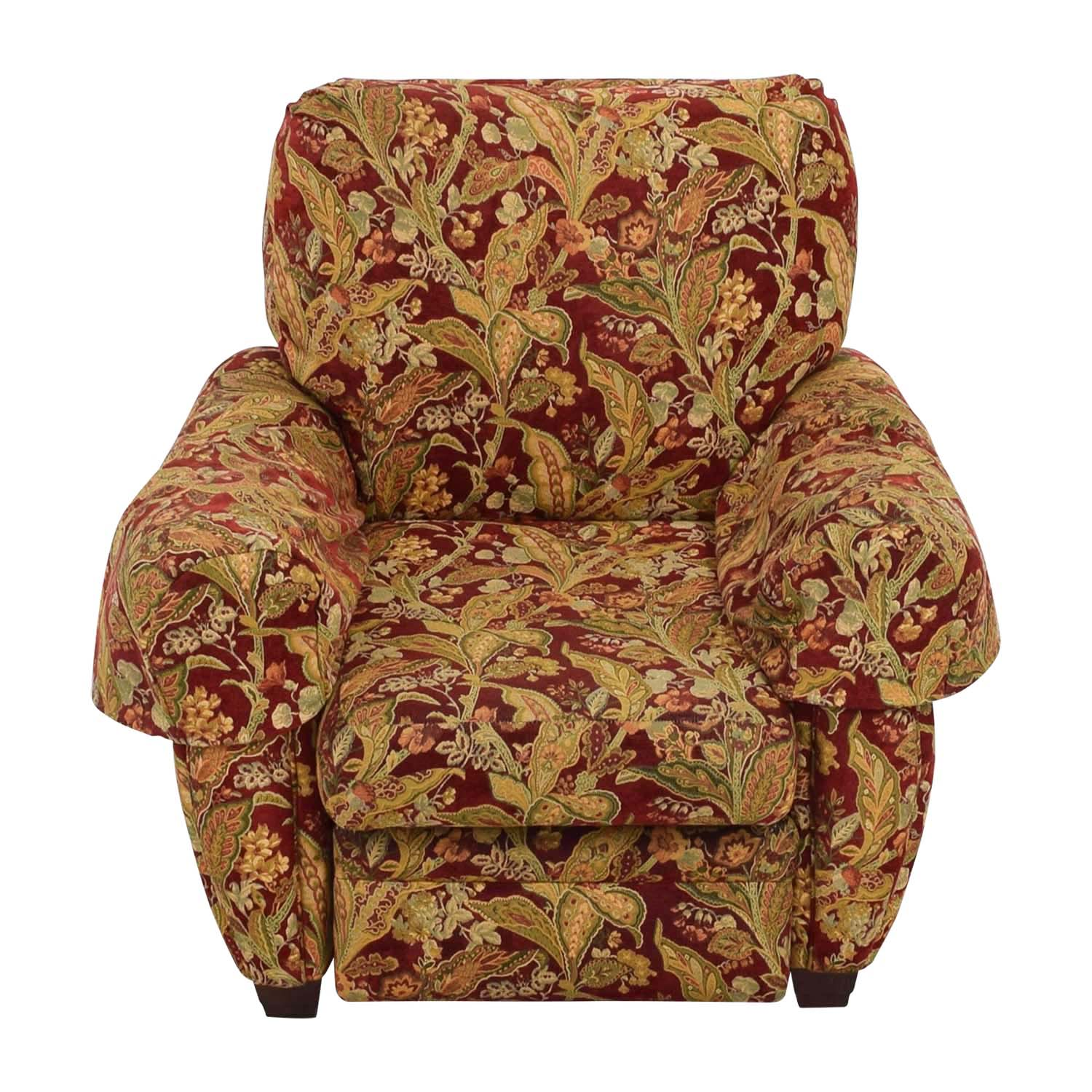 Lazy Boy Burgundy Floral Recliner / Accent Chairs