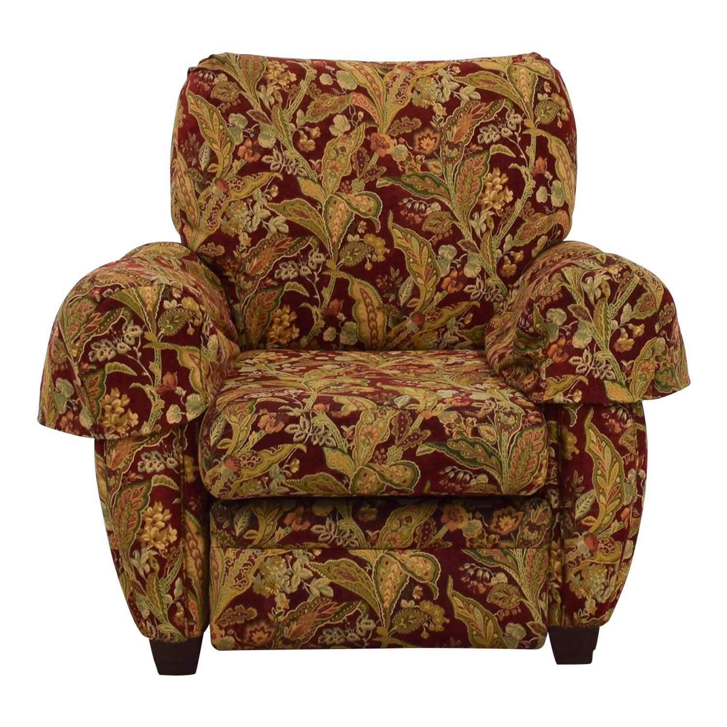 84% OFF - La-Z-Boy Lazy Boy Burgundy Floral Recliner / Chairs