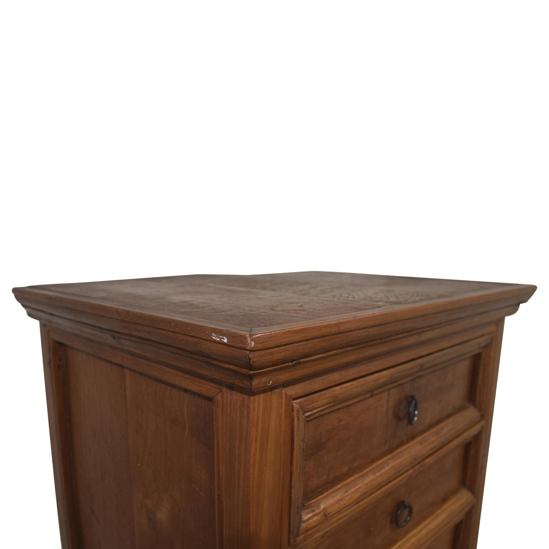 Wooden Six-Drawer Tall Dresser on sale