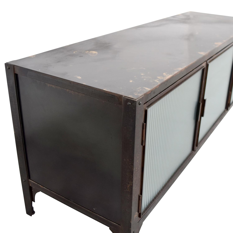 buy Crate & Barrel Wood and Glass Media Storage Unit Crate & Barrel Media Units