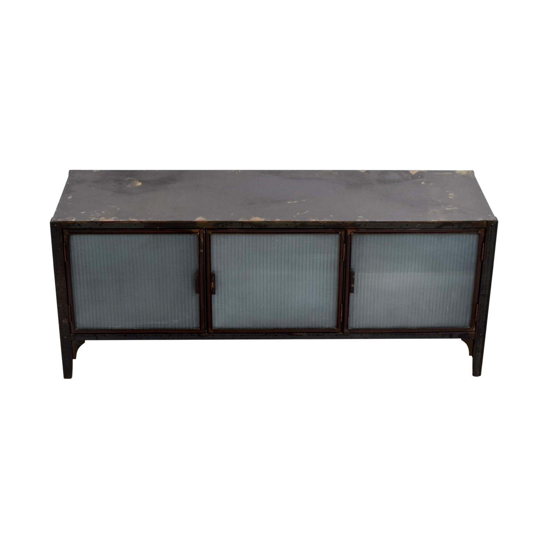 buy Crate & Barrel Wood and Glass Media Storage Unit Crate & Barrel