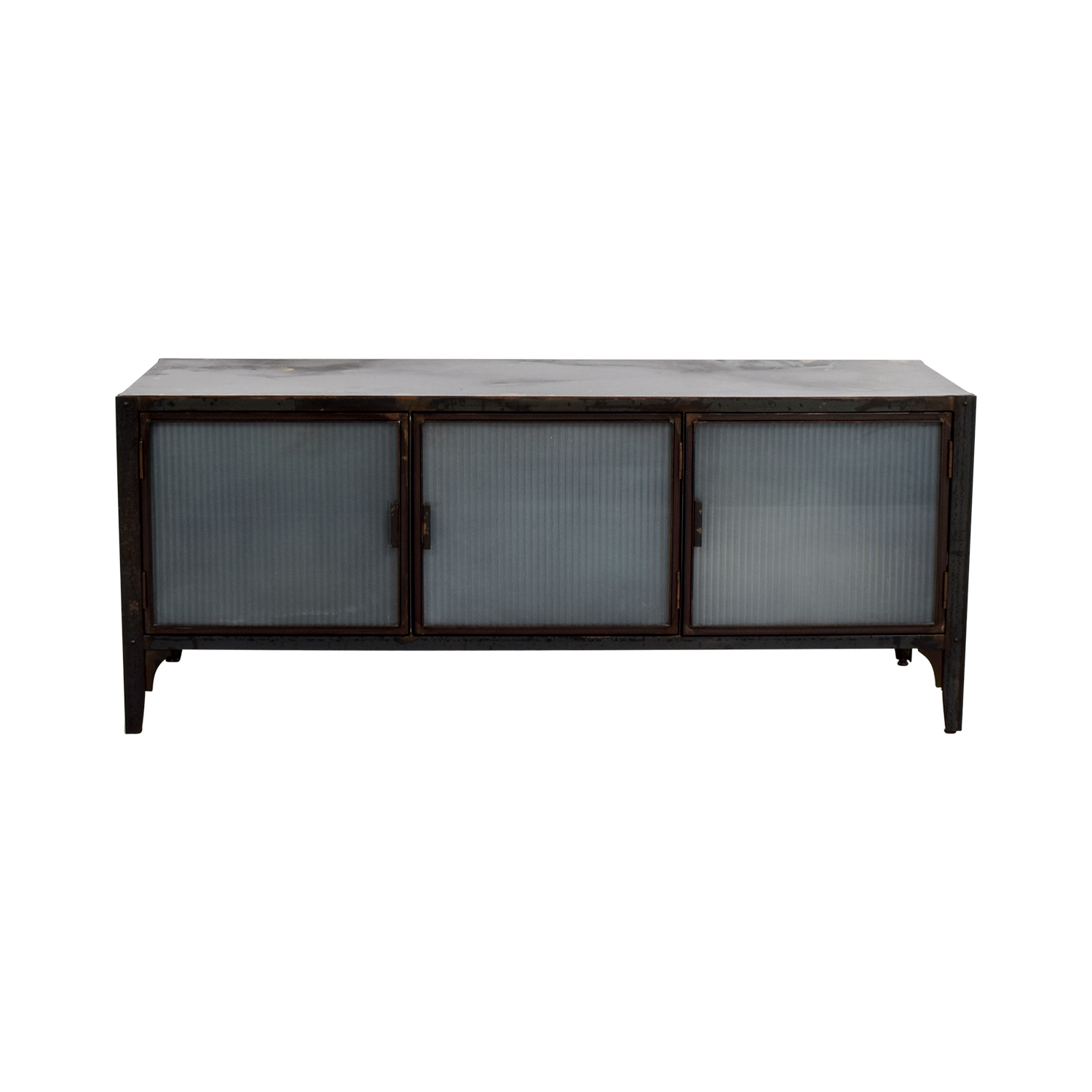Crate & Barrel Crate & Barrel Wood and Glass Media Storage Unit discount
