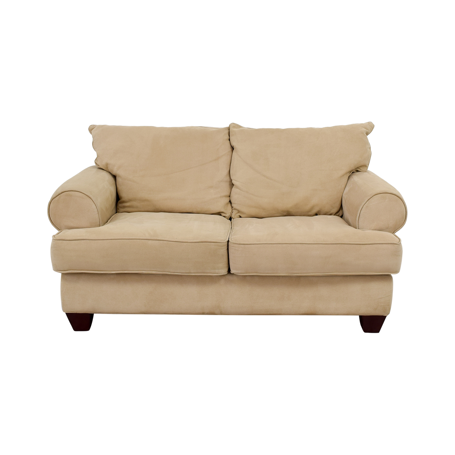 Modern Tan Loveseat used