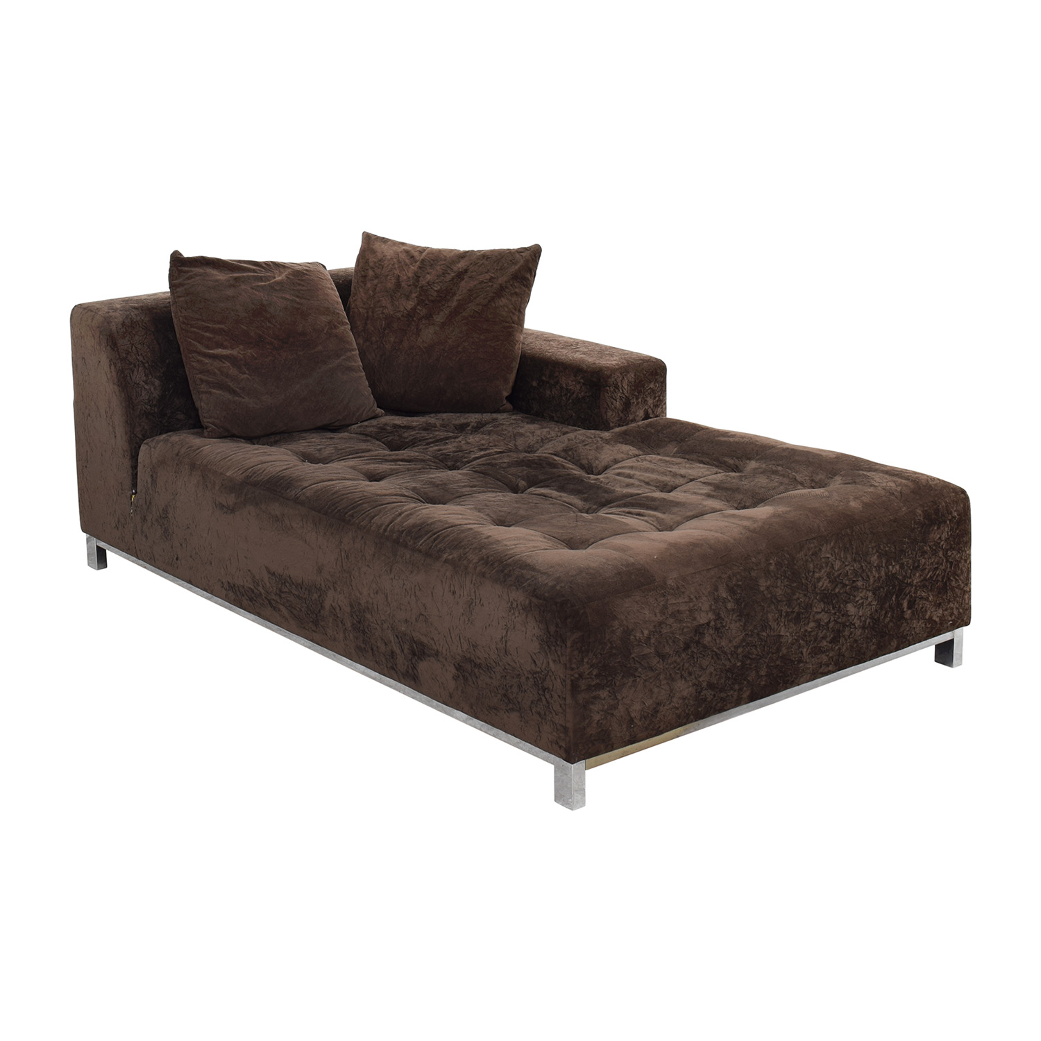 66% OFF Safaviah Safaviah Brown Tuifted Chaise Lounge Sofas